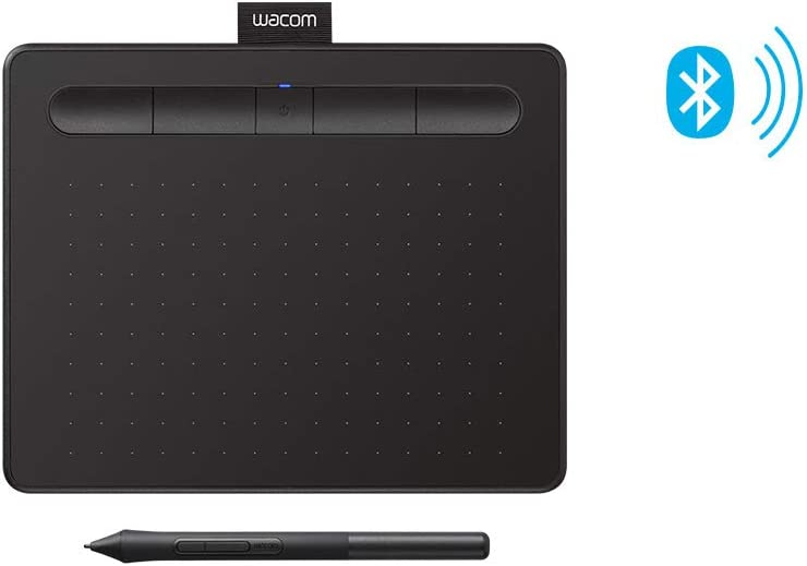 Amazon Com Wacom Intuos Wireless Graphics Drawing Tablet With Bonus Software Included 7 9 X 6 3 Black Ctl4100wlk0 Computers Accessories