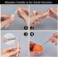 Awl and Wool Felting Tools for Hand Spinning DIY Felting Starter Felting Tool Kit for Needle Felting Needle Felting Kit Include 36 Colors Wool Roving Needle Felting Needles Fingercots