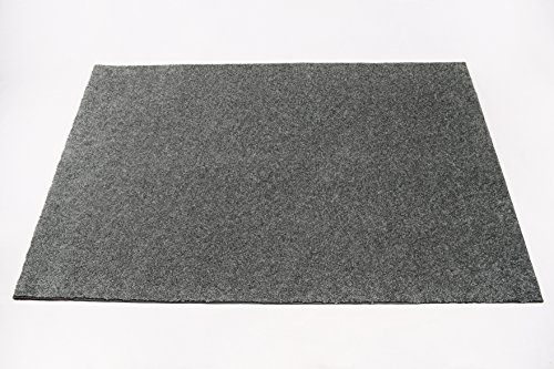 Soft Contemporary Solid Grey Bound Loop Carpet Area Rug - 8'x10'
