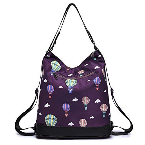 Mszyz Bolsa De Lona Bolso Satchel Oxford Bolso Bolsa De Tela Con Mochila De Gran Capacidad,blue,31 * 33 * 12cm. Mszyz Canvas Bag Satchel Bag Oxford Cloth Bag Bag Large Capacity Backpack, Blue, 31 * 33 * 12cm. Violet Violet