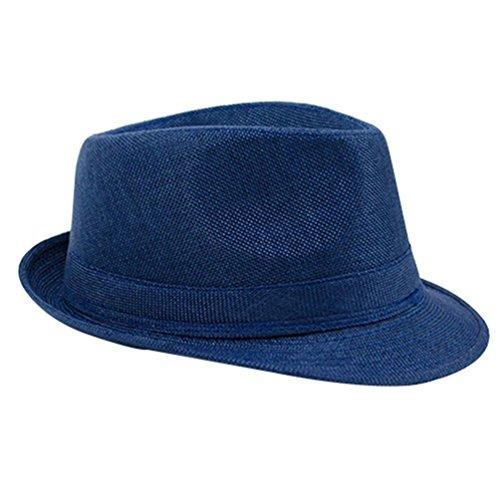 Floralby Men Women Linen Fedora Summer Beach Sun Hat ()