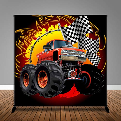 MME 10x10ft Super Cartoon 4WD Background Kids Racing Theme Party Photo Video Studio Props HXME306
