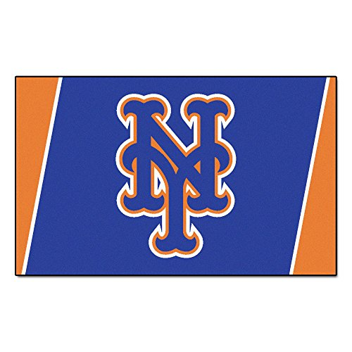 FANMATS MLB New York Mets Nylon Face 4X6 Plush Rug by Fanmats