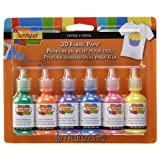 Scribbles 18533 3D Fabric Paint 1 Ounce 6/Pkg-Crystals