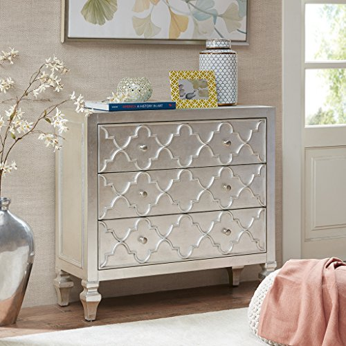 Somerset 3-Drawer Chest Antique Silver See - Drawer Madison 3