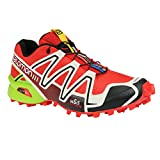 sports shoes b5259 1706a Salomon Men s Speedcross 3 Trail Running ... es Radiant Red Light  Grey Granny Green 12