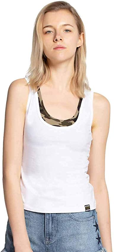 Extreme Pop Mujer Tops de Verano Camisas de Yoga de Doble Capa Fitness Camo Algodón sin Mangas Gimnasio Racerback UK Stock: Amazon.es: Ropa y accesorios