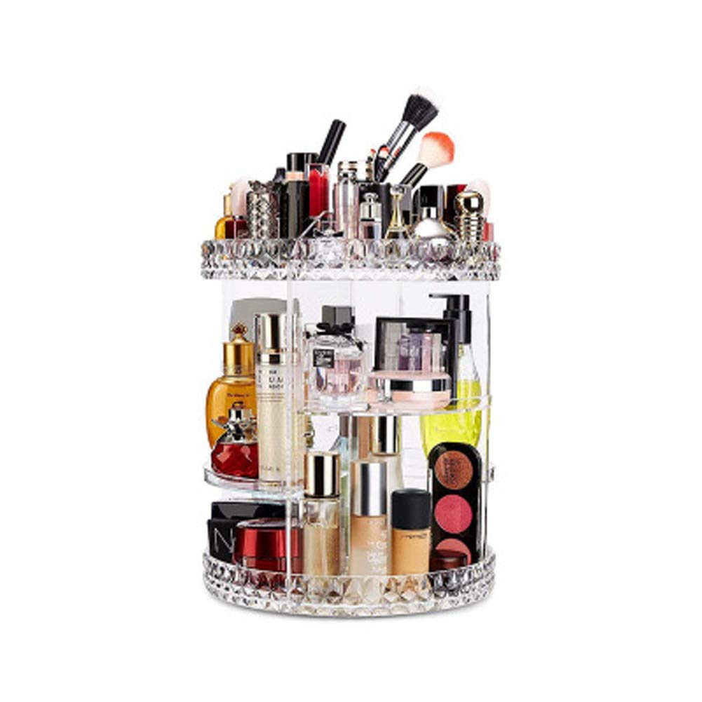 YHNMK Rotating Makeup Storage Box, Diamond-Shaped Drawer Type Multi-Layer Dressing Table, Rack top Shelf Beauty Finishing, Beauty Box Storage, Beauty Storage Box, Beauty Storage Organizer Box,