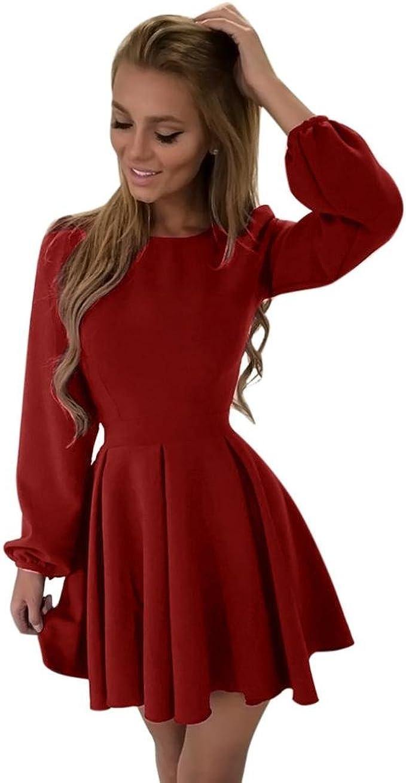 Vestiti Eleganti Bordeaux.Homebaby Bodycon Estivi Vestiti Casual Donna Sciolto Eleganti