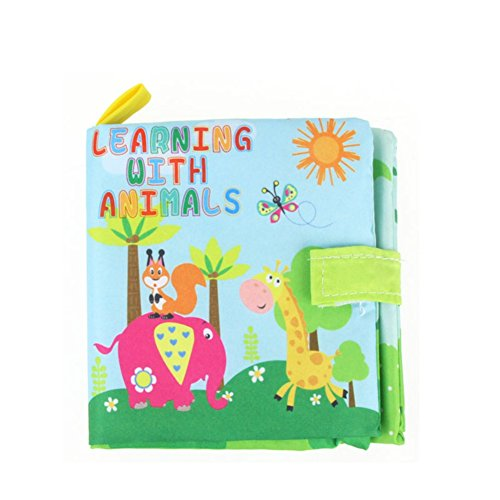 Wenasi Soft Book Preschool Crinkle Cloth Books,Handmade Educational Toys for Baby Toddler Boys and Girls –Animal Early Learning  Development Toy