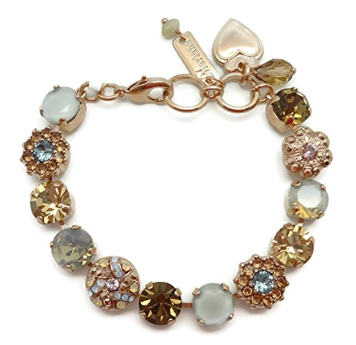 Mariana Rose Gold Plated Swaroski Crystal Bracelet Brown Grey Mix Mosaic 1092 Odyssey Rhapsode