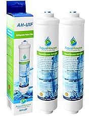 2x AquaHouse AH-UIF compatibele externe koelkast, waterfilter, geschikt voor Samsung LG Daewoo Rangemaster Beko Haier (vervangt alleen externe filters)