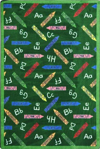 Joy Carpets - Crayons - Green 10'9