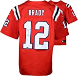 Tom Brady New England Patriots Autographed Red Elite Nike Jersey - Fanatics Authentic Certified - Autographed NFL Jerseys