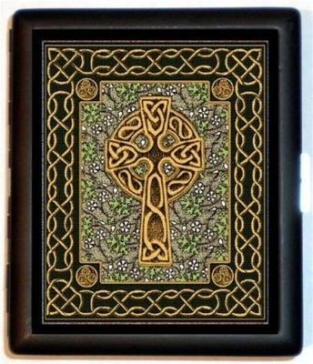 Celtic Cross Pattern Wallet ID Cigarette Case ()