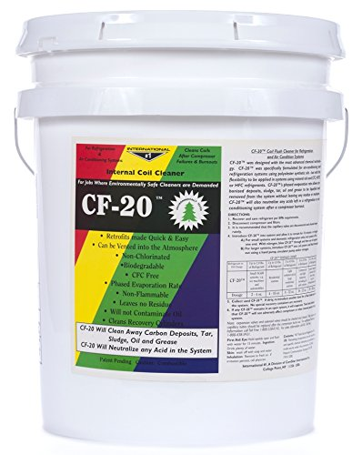 ComStar 90-501 CF-20 Internal Refrigeration Coil System Cleaner, 5 gal Pail, Clear