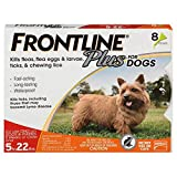 Frontline Plus Flea and Tick Treatment for Dogs 8 Month Supply (0-22 LB)