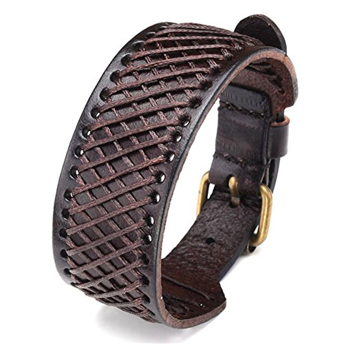 JOVIVI Braided Genuine Wristband Bracelet