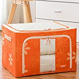 SiYang Pouch Storage Cube Organizer with Handles for Clothes Under Bed Storage Boxs(Orange,19.7x15.7x11In)