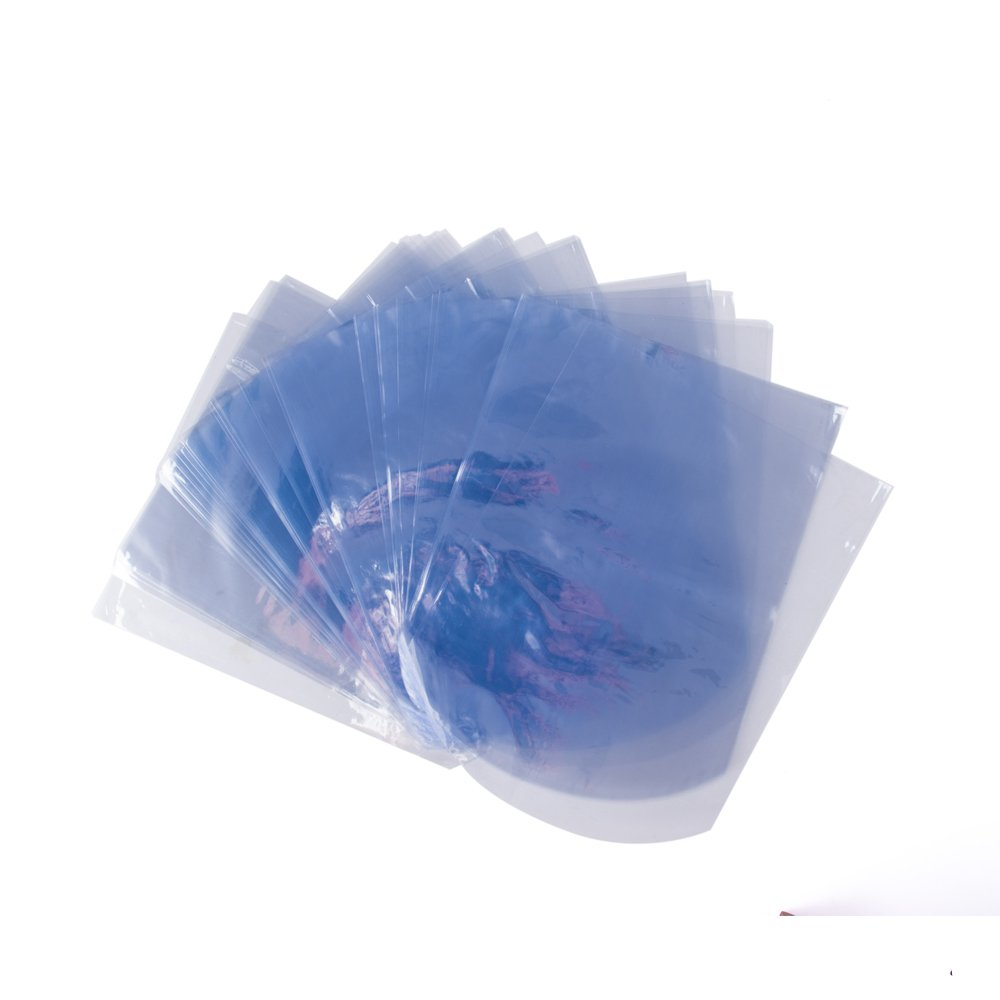 Clear 100 Packs 6x8 inch,/ Shrink Wrap Bags for Soap and Bath Bomb LazyMe Round End Heat Shrink Bags