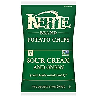 Kettle Brand Potato Chips, Sour Cream and Onion, 8.5 Ounce Bag