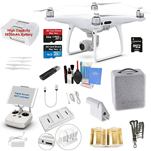 DJI Phantom 4 PRO Drone Quadcopter Bundle Kit with 4K Professional Camera...