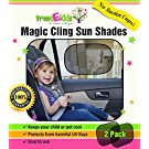 trendEkids Premium Baby Car Window Magic Cling Sun Shades. Blocks 97% of Harmful UV Rays Protects Your Child From Sunlight Glare 2X Ultimate Child Car Side Window Sunscreens 100% Money Back Guarantee