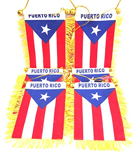 6x pc pack, Wholesale, stock lot, PUERTO RICO, Car, Auto,Puerto Rico flag Car Home, wholesale Puerto rico flags