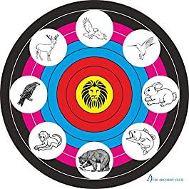 Hunting Archery Targets Face 122 cm | Ideal for Match and Daily Practice | Outdoor Shooting Face | Free Four Face Pin