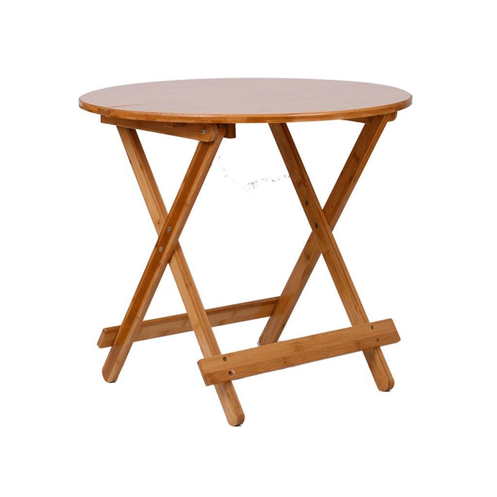 KKY-ENTER シンプルな折り畳み式テーブル折りたたみ式ダイニングテーブルナチュラルグリーンバンブーポータブル屋外パーティーピクニックフォールドデスク (色 : Round table, サイズ さいず : 70*70*62cm) B07DKDB32S 70*70*62cm|Round table Round table 70*70*62cm