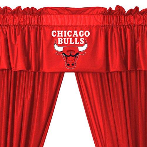 NBA Chicago Bulls Locker Room Valance and Drapes (Chicago Bulls Room Decor)