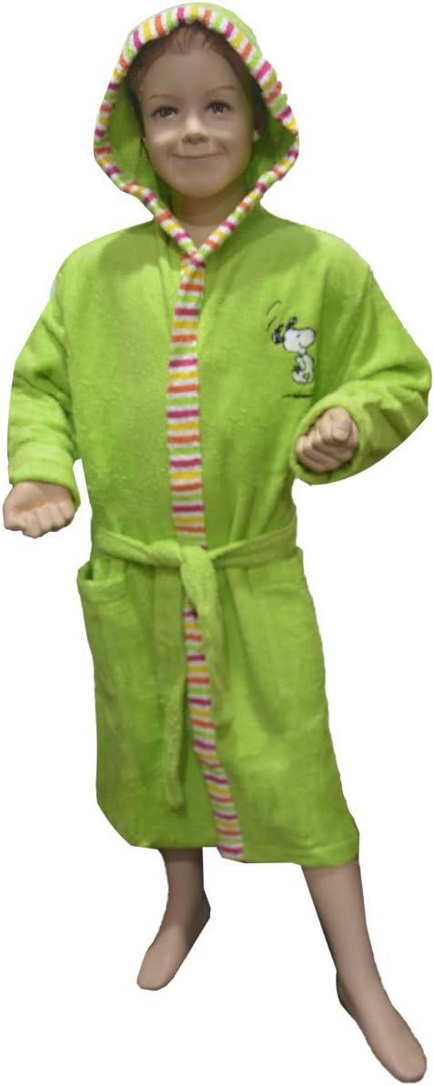 Hogar y Mas Albornoz Niño Verde Snoopy de Algodón, Bata Infantil 12-10 Años - 10 años: Amazon.es: Hogar