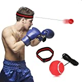 SGODDE Boxing Reflex Ball, Reflex Punch Ball with Headband,Boxing Speed Ball for MMA Training,Boxing Punch Exercise, Training Speed Reactions,Fitness-Boxing Gym Equipment for Adult/Kids Red