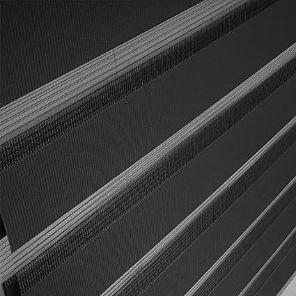 Grau B x L Moderner Sichtschutz Duo Rollos mit Kettenzug f/ür Fenster /& T/üren Aufun Doppelrollo Klemmfix ohne Bohren 60 x 120 cm
