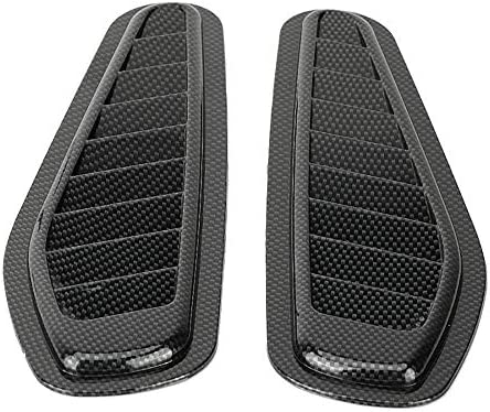 Universal car decorative Air Flow aspirazione Hood scoop Vent cofano copertura in fibra di carbonio