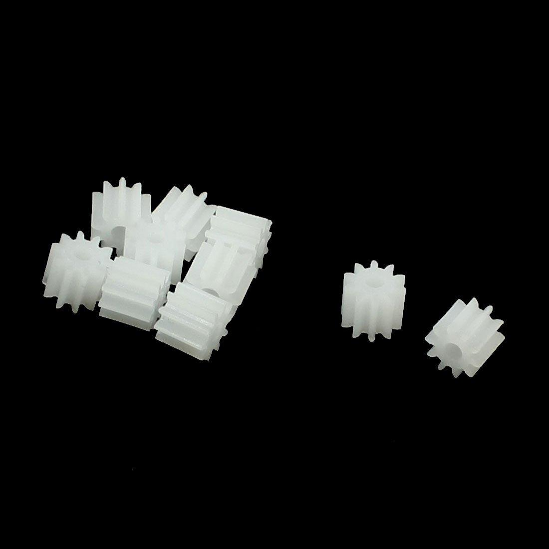 10 Pcs White Plastic 10 Teeth Electrical Models