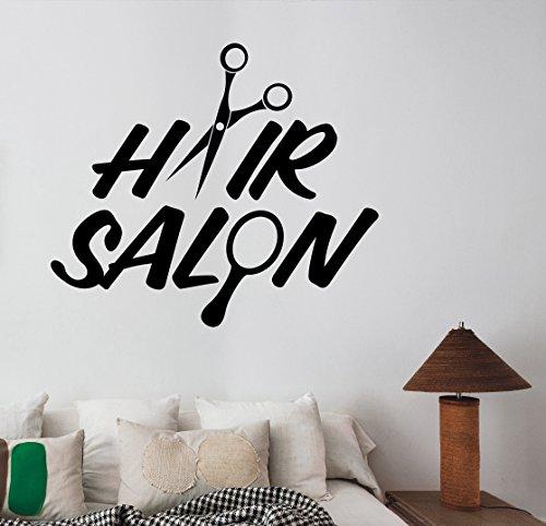 Hair Salon Vinyl Window Decal Sticker Barber Barbershop Wall Decorations Haircut Hairdressing Fashion Studio Decor Ideas (Saloon Girl Hairstyles)