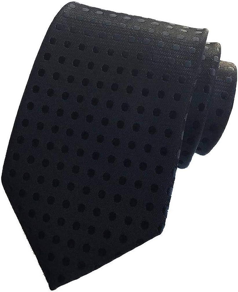 COMVIP Uomo Pois Affari mal seta jacquard tessuto della cravatta 8