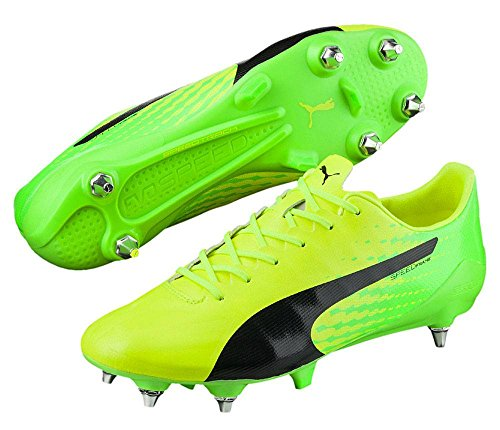 Puma Evospeed 17 Sl S Mx Sg, Botas de Fútbol para Hombre SAFETY YELLOW-PUMA BLACK-GREEN