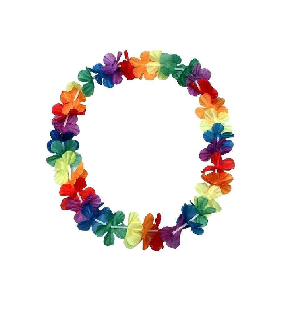 5 x Hawaii Blumenkette 96cm Halskette Fastnacht Sommer Party Deko Hawaiikette