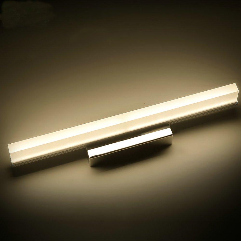 Modernes und stilvolles LED-Schranklicht einfach, Badezimmerwandlampe, Edelstahlbadezimmerlichter, Spiegelleuchten. (Farbe   Warmes Licht-40cm 6W)