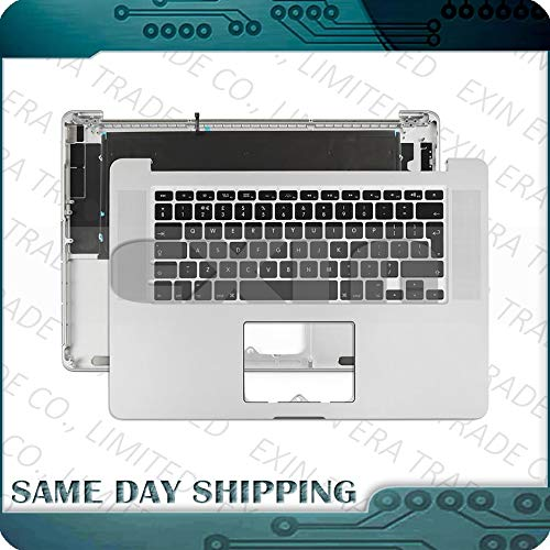 ShineBear for MacBook Pro Retina 15'' A1398 Topcase with Keyboard Top Case US UK English French German Spanish Danish 2012 2013 2014 2015 - (Cable Length: 2012-Early 2013 Year, Color: German Layout) by ShineBear