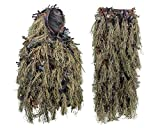 North Mountain Gear Youth Hybrid Woodland Camouflage Ghillie Hunting Suit Light Weight (Brown)