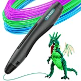 Tecboss 3D Print Pen, SL400 Adults Kids, One Button Operation No Toxic No Clog (Black)