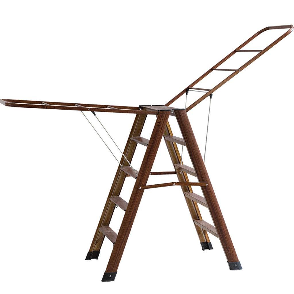 ZXW 乾燥ラック- 屋内の床折りたたみ家庭のシンプルなアルミの可動乾燥ラック (色 : 木の色, サイズ さいず : 45x106cm) B07KPKZTP9 木の色 45x106cm