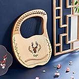 19 String Lyre Harp Lye Harp Solid Wood Mahogany