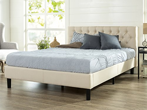 Zinus Upholstered Modern Classic Tufted Platform Bed, King