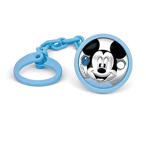 Pinza chupete plata Ley 925m Disney bebé bilaminado Mickey ...