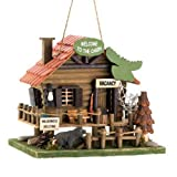 Cheap 15281 Wholesale Woodland Cabin Birdhouse Garden Decor Decoration Outdoor Front Yard Frontyard Home House Grass Flowers