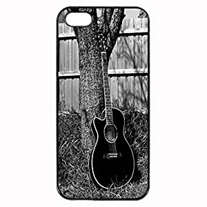 Acoustic guitar Unique Custom Image Case iphone 5 case , iphone 5S case, Diy Durable Hard Case Cover for iPhone 5 5S , High Quality Plastic Case, Black Case New